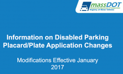 Disabled Parking Placard and Plate Application Changes 2017